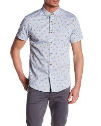 Sovereign Code - Blue Crystal Cove Short Sleeve Regular Fit Shirt for Men - Lyst