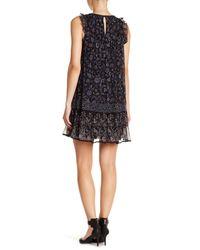 Joie - Black Tahoma B. Floral Ruffle Dress - Lyst