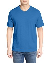 Tommy Bahama Blue Portside Player Pima Cotton Tee for men
