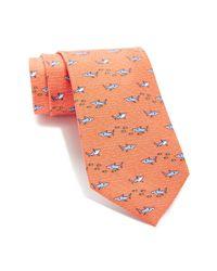 Tommy Hilfiger - Orange Silk Shark Fish Print Tie for Men - Lyst