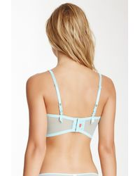 Josie Blue Bardot Unlined 3/4 Underwire Bra