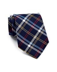 Tommy Hilfiger | Blue Mad Plaid Silk Tie for Men | Lyst
