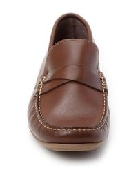 Sandro Moscoloni - Brown Luth Leather Moc Loafer for Men - Lyst