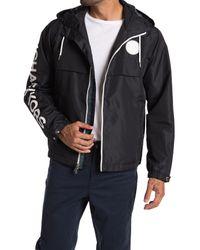 Michael Kors Black Logo Zip Up Windbreaker for men