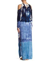 Young Fabulous & Broke Blue Mischa Maxi Print Dress