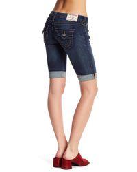 True Religion Blue Knee Length Denim Short