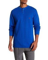 Polo Ralph Lauren - Blue Waffle Knit Henley for Men - Lyst