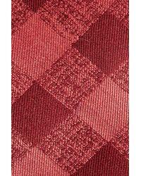 Calibrate - Red Tigrane Check Silk & Cotton Tie for Men - Lyst