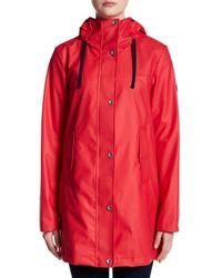 Nautica Red Hooded Anorak