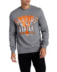 Mitchell & Ness | Gray Long Sleeve Graphic Sweater for Men | Lyst