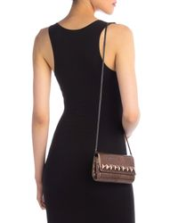 Whiting & Davis Brown Crystal Square Clutch