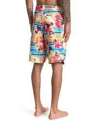 Robert Graham Multicolor Slipstream Swim Board Shorts for men