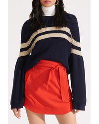 Veronica Beard Red Nyrie Bow Mini Skirt