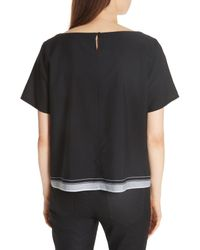 Eileen Fisher - Black Boxy Organic Cotton Top - Lyst