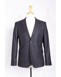 Boga   Blue Solid Wool Blend Blazer for Men   Lyst