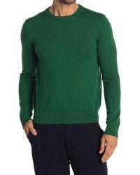 Quinn Green Crew Neck Knit Sweater for men