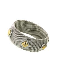 1928 - Metallic Two-tone Mesh Bracelet - Lyst