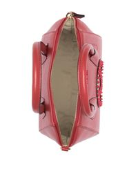 Valentino By Mario Valentino Red Minimi Rock Leather Top Handle Satchel