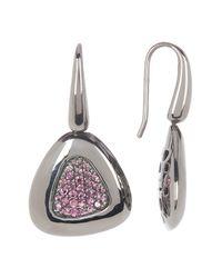 Roberto Coin   Metallic Capri Plus Sterling Silver Rhodolite Drop Earrings   Lyst