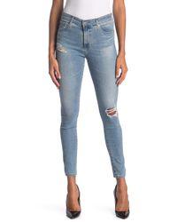 AG Jeans Blue Farrah High Waist Ankle Crop Skinny Jeans