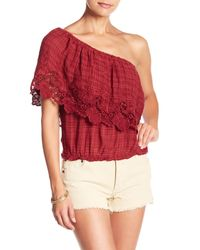 O'neill Sportswear Red Sabrina One-shoulder Top