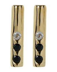 Elizabeth and James - Metallic Bea Bar Stud Earrings - Lyst
