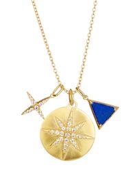 Elizabeth and James | Metallic Balaton Necklace | Lyst