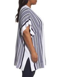 Foxcroft - Blue Kris Stripe Knit Open Cardigan - Lyst