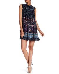 Anna Sui Black Paisley Fringe Minidress