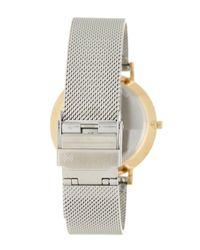 Skagen - Metallic 'hald' Round Mesh Strap Watch, 34mm - Lyst