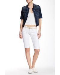 Hudson | White Palerme Knee Cuffed Short | Lyst