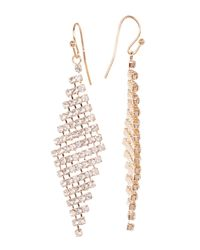 Joe Fresh | Metallic Crystal Chandelier Earrings | Lyst
