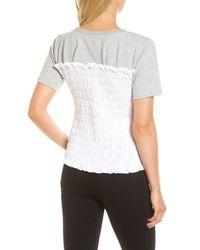 Chelsea28 - Gray Smocked Sweatshirt - Lyst