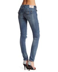 True Religion Blue Distressed Denim Skinny Jean
