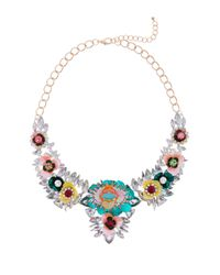 Cara - Multicolor Flower Bauble Statement Necklace - Lyst