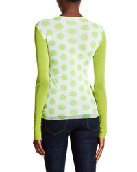 Petit Pois Green Polkadot Long Sleeve Shirt