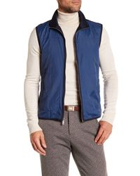Perry Ellis - Blue Cotton Polyester Mock Vest for Men - Lyst