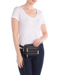 Rebecca Minkoff Black 3 Zip Leather Belt Bag