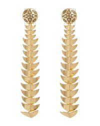 House of Harlow 1960 - Metallic Dorado Long Drop Earrings - Lyst