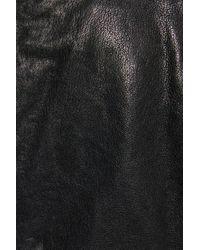 Lamarque Black Leather Biker Jacket