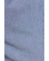 1901 Blue Ballard Slim Fit Stretch Chambray Shorts for men