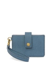 Fossil - Blue Mini Snake Embossed Wallet - Lyst