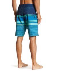 Volcom Blue Lido Liney Mod Board Short for men