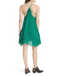 Free People - Green Heat Wave Tunic Dress - Lyst