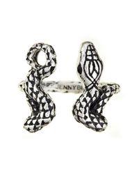 Jenny Bird Metallic Shakti Serpent Ring