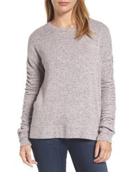 Caslon - Pink Caslon Ruched Sleeve Pullover - Lyst