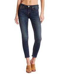 True Religion Blue Super Skinny Ankle Jean