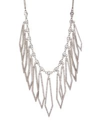 Jessica Simpson | Multicolor Crystal Detail Diamond Shaped Drop Necklace | Lyst