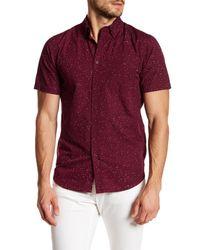 Obey Purple Ace Short Sleeve Regular Fit Shirt for men