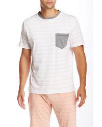 Spenglish - White Stripe Pocket Tee for Men - Lyst